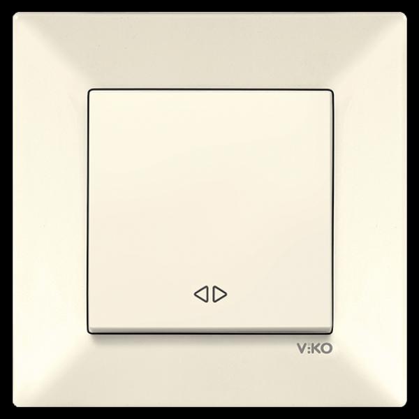 Выключатель реверсивный (перекрестный) крем Viko Meridian 90970231-WH