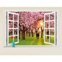 Интерьерная наклейка на стену Пара в саду сакуры AY9234E