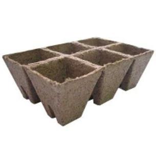 Торфяные горшки-стрипсы 8*8 см (6 шт) / торфяные кассеты для выращивания рассады Джиффи/Jiffy-STRIPS