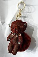154 Игрушка Мишка, брелки Hade made Мишки, брелки для сумок и ключей, подарки. Длина 18 см