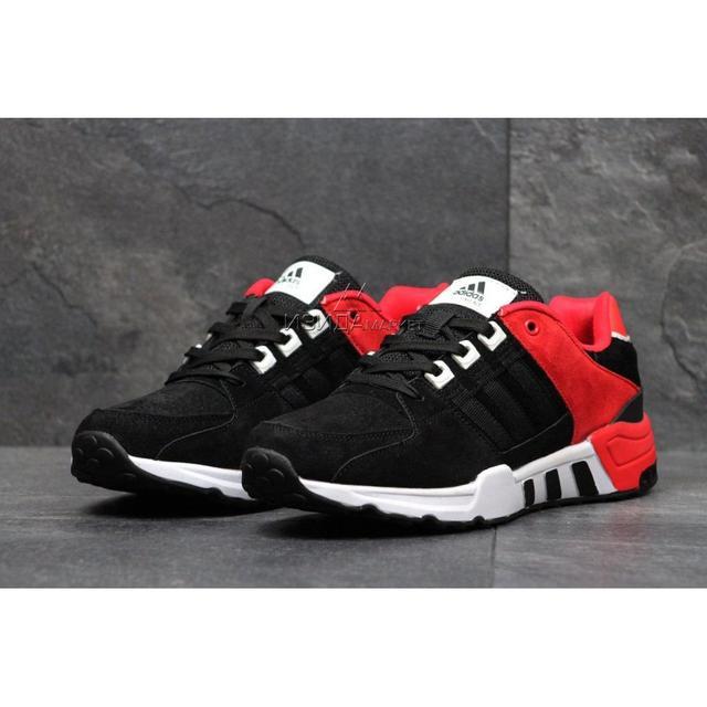 Чоловічі кросівки 3583 Adidas Equipment чорні з червоним 4b62d60ac09d4