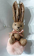156 Брелки Hade made зайцы- кролики, брелки для сумок и ключей, подарки. Длина 20 см