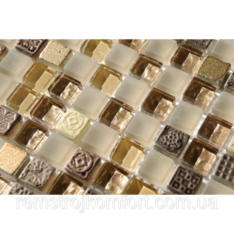 Мозаика Vivacer Мрамор стекло DAF22 30x30/1.5x1.5