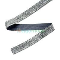 Тесьма эластичная для повязок, ТЕМНО-СЕРЕБРИСТАЯ, 15 мм