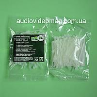 Стяжка кабельная 2,5 х 60 мм белая, цена за упаковку (100 штук)