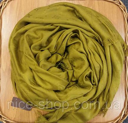 Платок Louis Vuitton оливковый, фото 2
