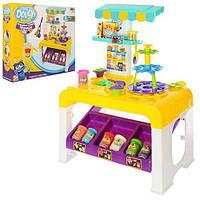 Набор столик + пластилин 8цветов (баноч.с кр),столик 57-65-28 см,шприц,инструменты,формочки,в коробке