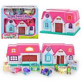 Раскладной дом детский, движимые элементы. Возраст 3+