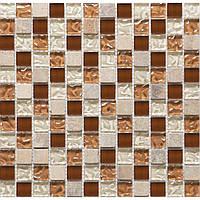 Мозаика Vivacer Мрамор стекло DAF9 30x30/2.2x2.2