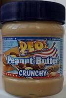 Арахисовая паста PEO`S  Crunchy, 340 гр