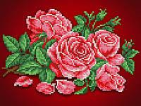 """Схема для вышивки бисером/крестом на габардине """"Аромат розы"""""""