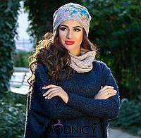 Женская шапка со снудом