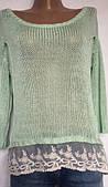 Женская кофточка крупной вязки, из мягкой пряжи, размер S/M