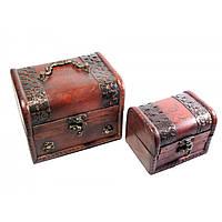 Сундучки деревянные набор 2 шт