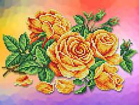 """Схема для вишивки бісером/хрестом на габардині """"Аромат троянди"""""""