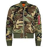 Куртка MA-1 SLIM FIT FLIGHT JACKET Alpha Industries демисезонная, фото 2