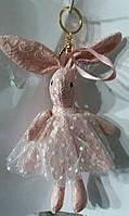166 Брелок Hade made, игрушки брелки заяцы, брелки для сумок и ключей, подарки оптом