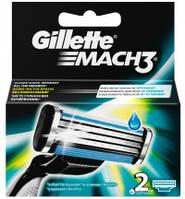 Сменные кассеты для бритья Gillette Mach 3, 2 шт