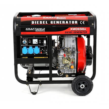 Генератор дизельный 6500W 12 / 230V KD122, фото 2