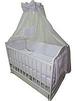"""Акция! Комплект для сна """"Наполеон"""". Кроватка маятник + ящик + матрас ортопедический + постельный набор 10 эл."""