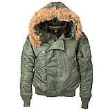 Зимняя мужская куртка N-2B Parka Alpha Industries, фото 3