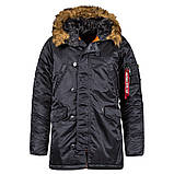 Куртка аляска Slim Fit N3b Parka Alpha Industries, фото 3
