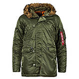 Куртка аляска Slim Fit N3b Parka Alpha Industries, фото 4