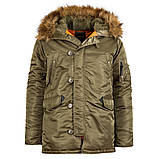 Куртка аляска Slim Fit N3b Parka Alpha Industries, фото 7