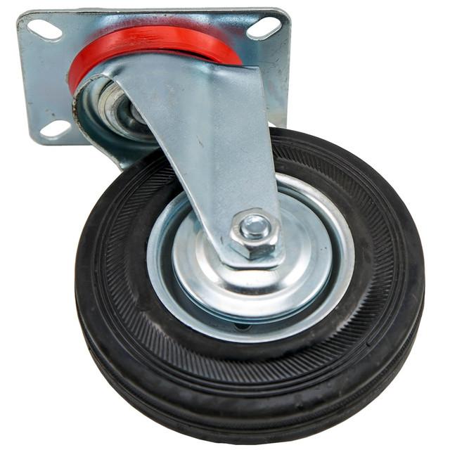Колеса и ролики с контактным слоем из стандартной черной, серой и эластичной резины