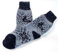 Женские зимние носочки из овчины - олени