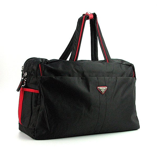 Спортивная сумка мужская дорожная текстильная черная Prada 3259