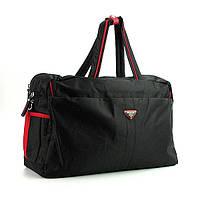 Спортивная сумка мужская дорожная текстильная черная Prada 3259, фото 1