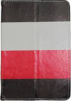 "Чехол-книжка TOTO Tablet Cover Stripes Universal 10"" Red/Black/White"