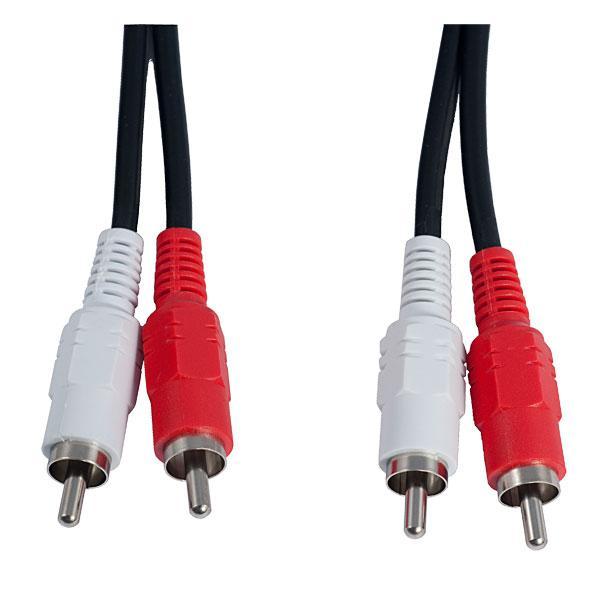 Аудіо кабель 2xRCA (вилка) - 2xRCA (вилка) 1,5 м