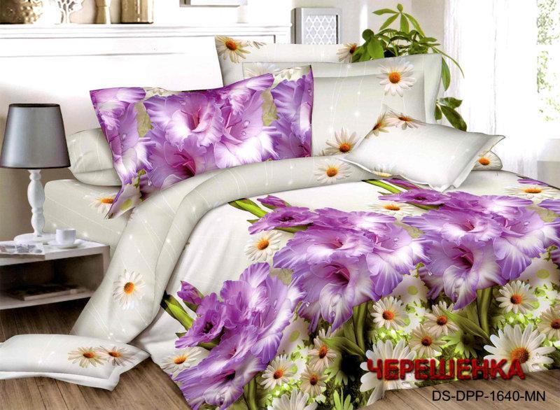 Полуторный набор постельного белья из Ранфорса №202 Черешенка™