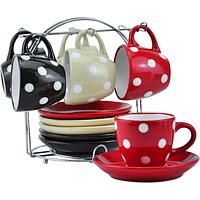 Сервиз чайный 12 пр. на стойке (чашка-240мл, блюдце-15,5см) 021-12-08
