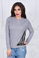 Красивый женский свитерок, уголок из пайеток