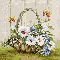 Картина раскраска по номерам Подарок из летнего сада 40х50см от бренда Идейка
