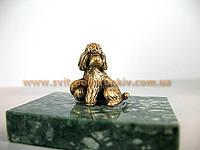 Бронзовая фигурка Пудель, памятный сувенир