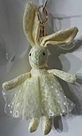 167 Брелоки куклы Hade made, игрушки брелки заяцы, брелки для сумок и ключей, подарки оптом