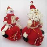 "Игрушка плюшевая ""Дед Мороз на мешке"""