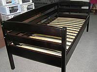Кровать односпальная из натурального дерева Нота +