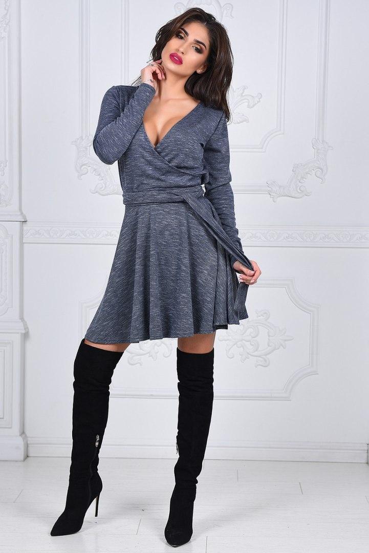 7d40852205e Стильное короткое платье на запах - Интернет-магазин
