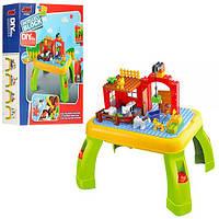 Набор столик + конструктор ферма, игровой столик,фигурки 6шт, 42деталей, в коробке,44.5-58.5-12cм