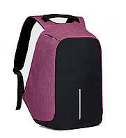 Рюкзак АНТИВОР Bobby c защитой от карманников и с USB зарядным устройством фиолетовый
