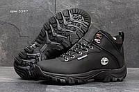 Ботинки женские Timberland Зима. Нубук Мех 100% Черные