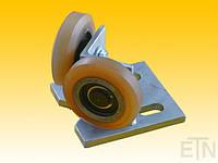 Роликовая направляющая GGW 4, угловая версия, сталь Bock 37, 100 x 90 x 70 мм, 2 x колесики ø 75 x 20/10 мм, накладка VU 80 °, расстояние между