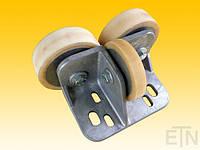 Направляющая ролика ETN-FK-ST 5 ,  для лифта, Bock aluminium, 190 x 115 x 100 мм, 2 x колесика ø 125/20 x 40 мм, 1 x ролик ø 100/15 x 20 мм, сталь,