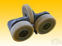 Направляющая ролика ETN-FK-ST 2 ,  для лифта, Bock Alu, 190 x 115 x 100 мм, 2 x колеса ø 100/20 x 30 мм, 1 x ролик ø 100/15 x 20 мм, стальная сталь,