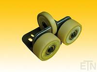 Направляющая ролика ETN-FK3-AL3 ,  для лифта, Bock aluminium 190 x 115 x 100 мм, 2 x колеса ø 100/20 x 40 мм, 1 x ролик ø 100/15 x 20 мм, ролики с